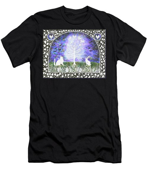 Men's T-Shirt (Athletic Fit) featuring the painting The Attraction by Lise Winne