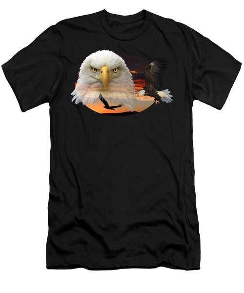 The Bald Eagle 2 Men's T-Shirt (Athletic Fit)