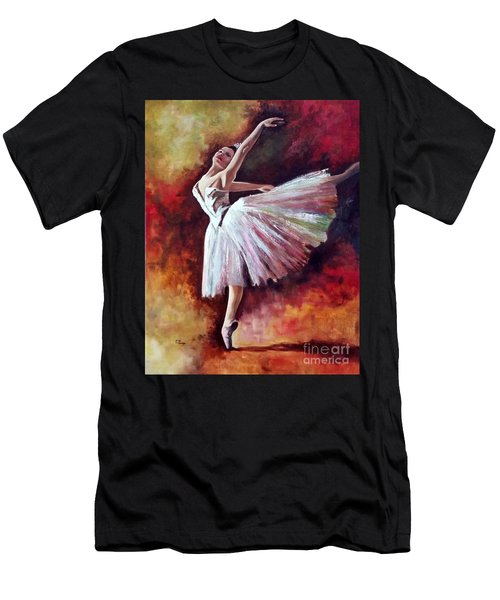The Dancer Tilting - Adaptation Of Degas Artwork Men's T-Shirt (Athletic Fit)