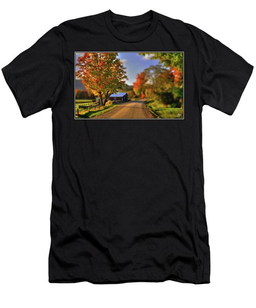 Men's T-Shirt (Athletic Fit) featuring the photograph The Barn At The Bend by Wayne King