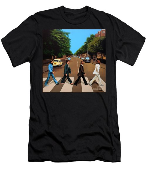 The Beatles Abbey Road Men's T-Shirt (Athletic Fit)
