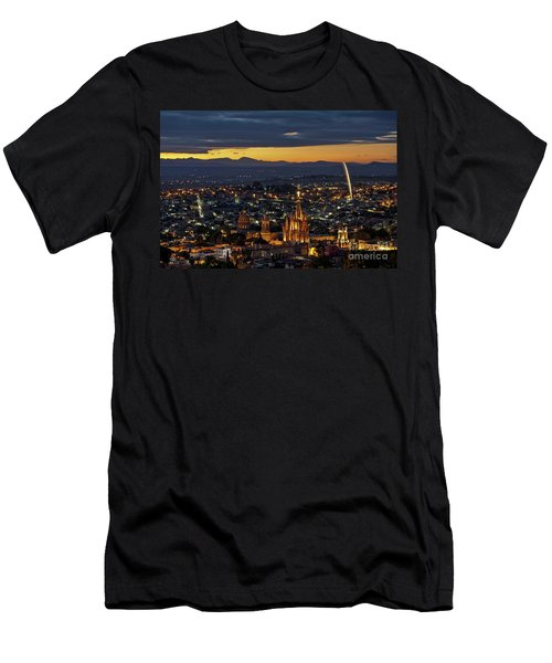 The Beautiful Spanish Colonial City Of San Miguel De Allende, Mexico Men's T-Shirt (Slim Fit) by Sam Antonio Photography