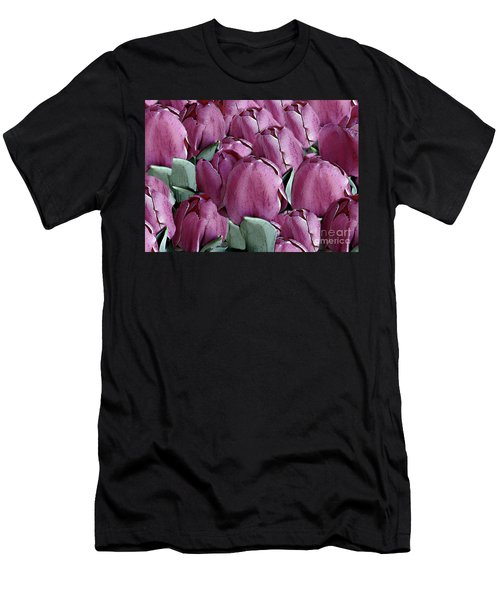 The Beauty And Depth Of A Bed Of Tulips Men's T-Shirt (Athletic Fit)