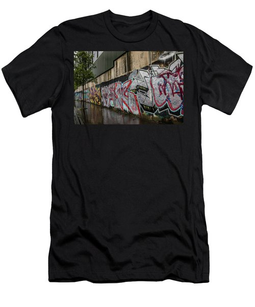 The Belfast Peace Wall Men's T-Shirt (Athletic Fit)