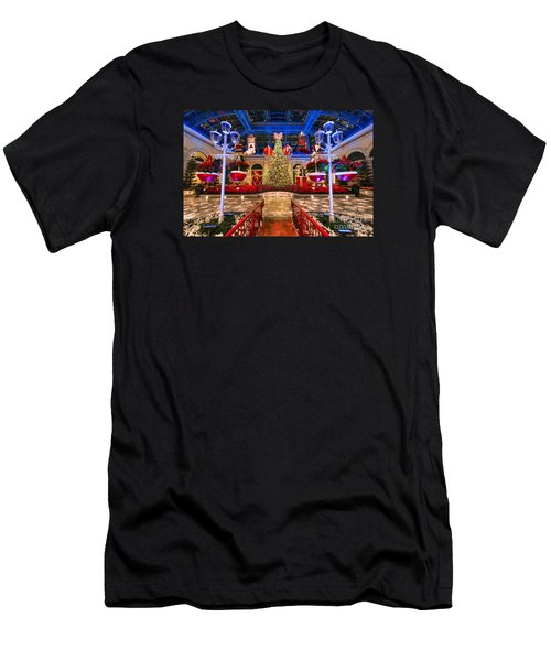The Bellagio Christmas Tree And Decorations 2015 Men's T-Shirt (Slim Fit) by Aloha Art