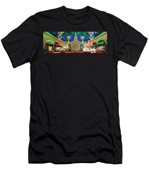 The Bellagio Christmas Tree Panorama 2017 Men's T-Shirt (Athletic Fit)