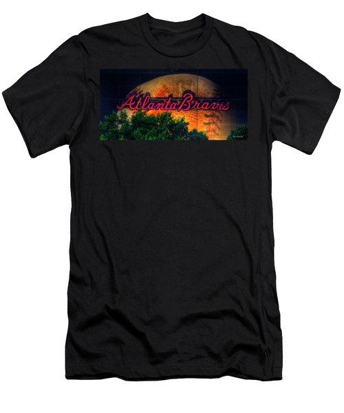 The Big Ball Atlanta Braves Baseball Signage Art Men's T-Shirt (Athletic Fit)