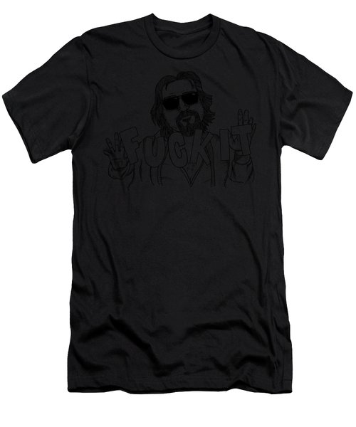 The Big Lebowski Fan Shirts The Dude Fuck It Jeff Lebowski Men's T-Shirt (Athletic Fit)