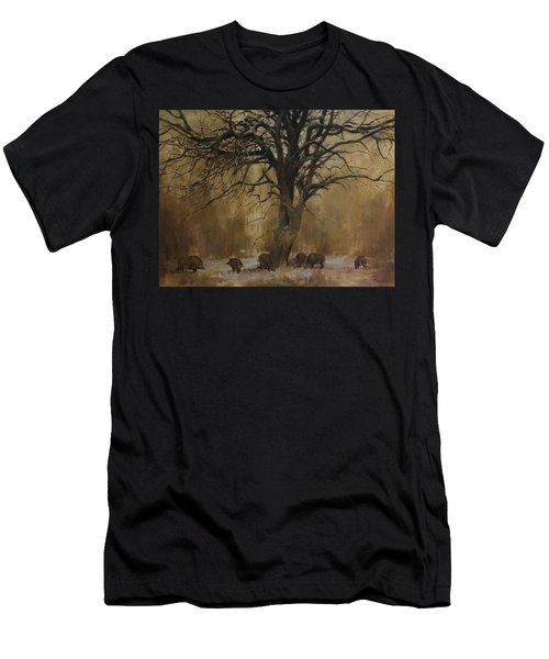 The Big Tree With Wild Boars Men's T-Shirt (Athletic Fit)
