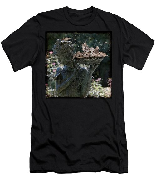 Men's T-Shirt (Athletic Fit) featuring the photograph The Bird Bath by Chris Lord
