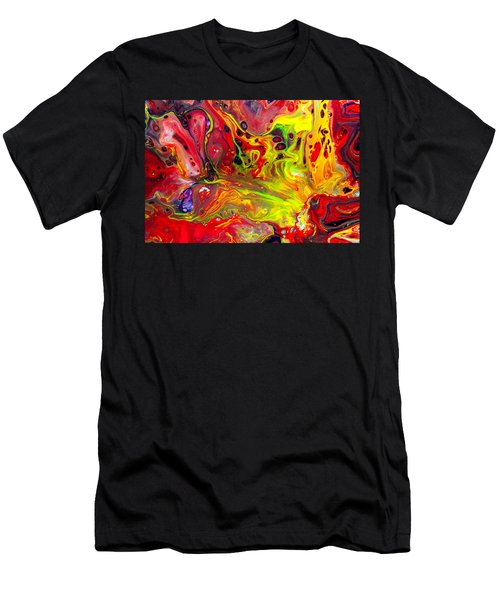 The Birth Of Diamonds - Abstract Colorful Mixed Media Painting Men's T-Shirt (Athletic Fit)