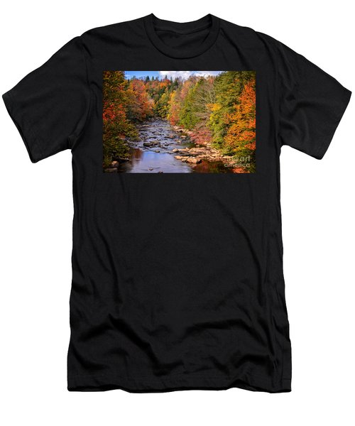 The Blackwater River In Autumn Color Men's T-Shirt (Athletic Fit)