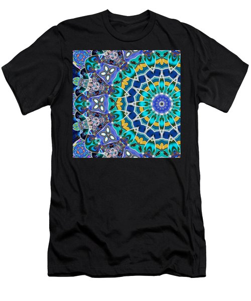 Men's T-Shirt (Slim Fit) featuring the digital art The Blue Collective 04b by Wendy J St Christopher