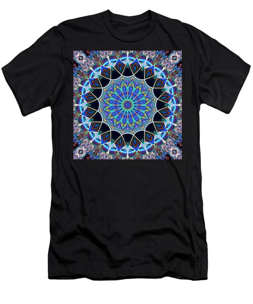 Men's T-Shirt (Slim Fit) featuring the digital art The Blue Collective 09 by Wendy J St Christopher