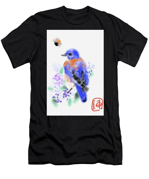 The Bluebird Sings  Men's T-Shirt (Athletic Fit)