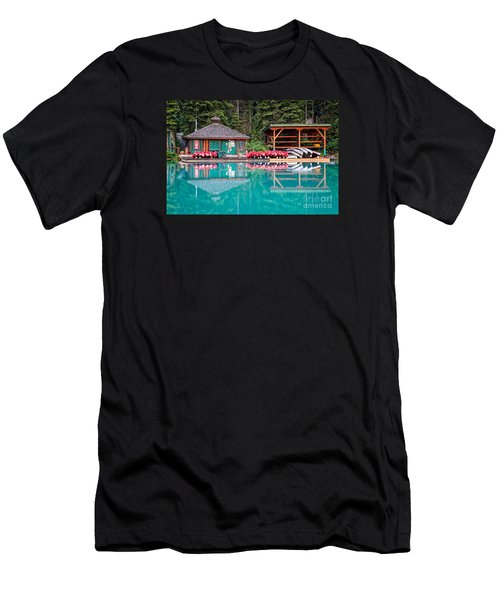 The Boat House At Emerald Lake In Yoho National Park Men's T-Shirt (Athletic Fit)