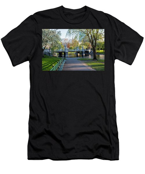 The Boston Public Garden In The Spring Boston Ma Men's T-Shirt (Athletic Fit)