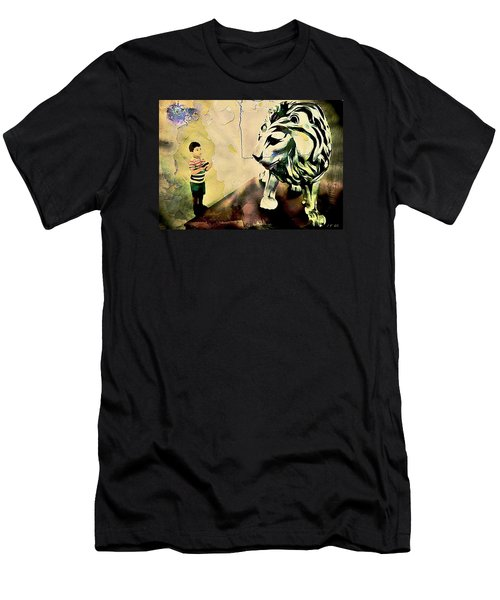 The Boy And The Lion Graffiti Creator,street-art Graffiti,street-art,graffiti Art Street,banksy Art, Men's T-Shirt (Athletic Fit)