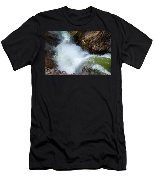 The Brink Of The Lower Falls Of The Yellowstone River Men's T-Shirt (Athletic Fit)
