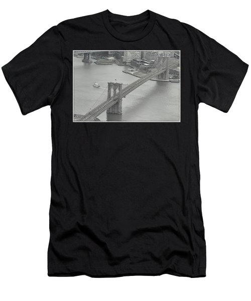 The Brooklyn Bridge From Above Men's T-Shirt (Athletic Fit)