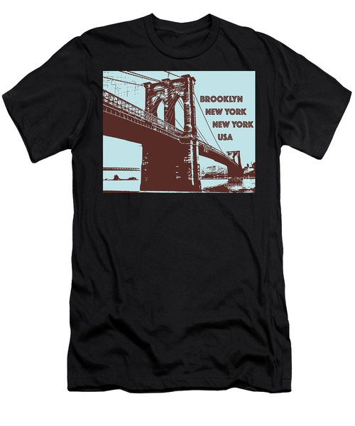 The Brooklyn Bridge, New York, Ny Men's T-Shirt (Athletic Fit)