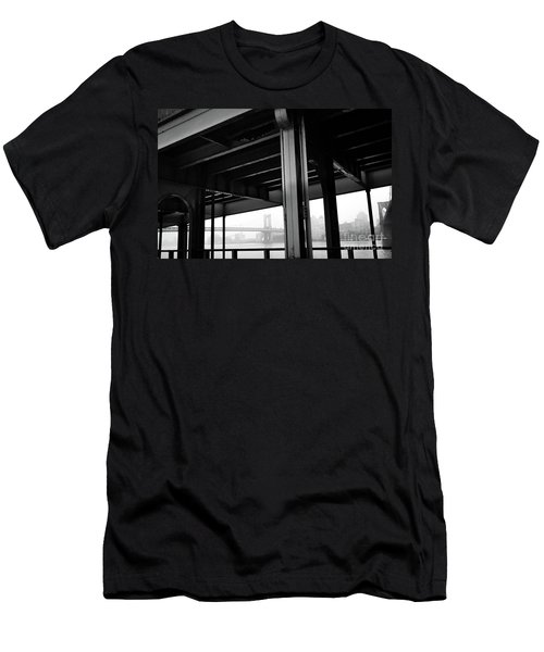The Brooklyng Bridge And Manhattan Bridge From Fdr Drive Men's T-Shirt (Athletic Fit)