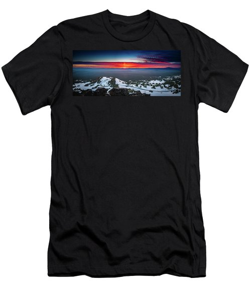 Men's T-Shirt (Athletic Fit) featuring the photograph The Burning Clouds At Crater Lake by William Lee