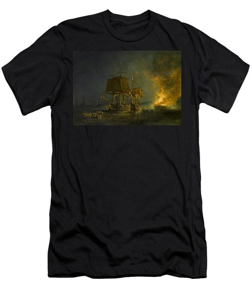 The Burning Of The Russian Men's T-Shirt (Athletic Fit)