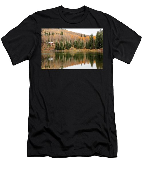 The Cabin By The Lake Men's T-Shirt (Athletic Fit)