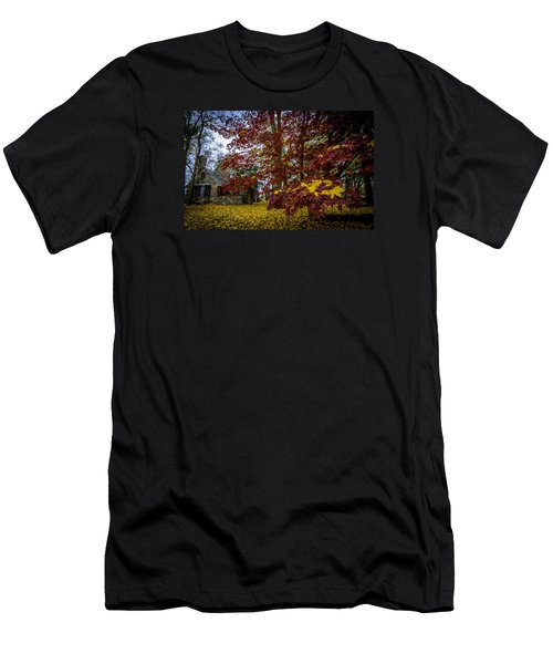 The Cabin In Autumn Men's T-Shirt (Athletic Fit)