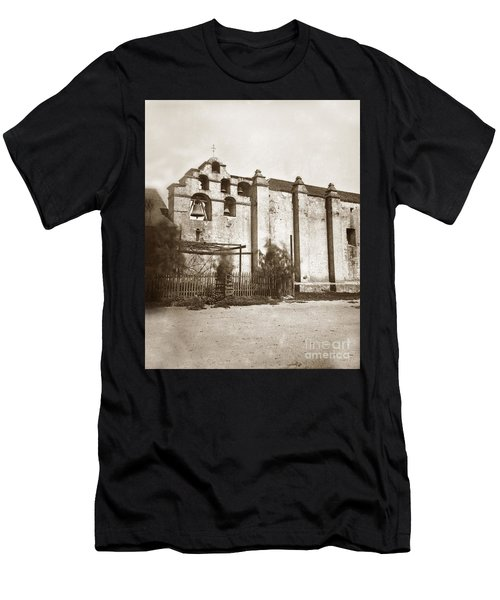 The Campanario, Or Bell Tower Of San Gabriel Mission Circa 1880 Men's T-Shirt (Athletic Fit)