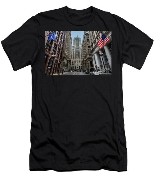 The Canyon In The Financial District Men's T-Shirt (Athletic Fit)