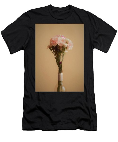 Men's T-Shirt (Slim Fit) featuring the digital art The Carnations by Ernie Echols