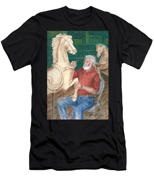 The Carver And His Horse Men's T-Shirt (Athletic Fit)