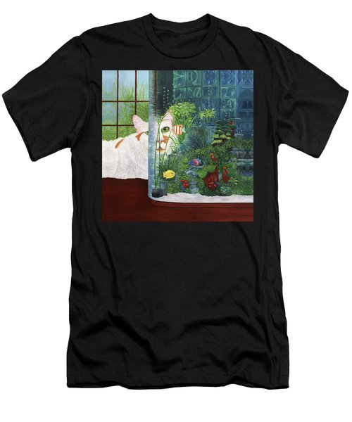 The Cat Aquatic Men's T-Shirt (Athletic Fit)