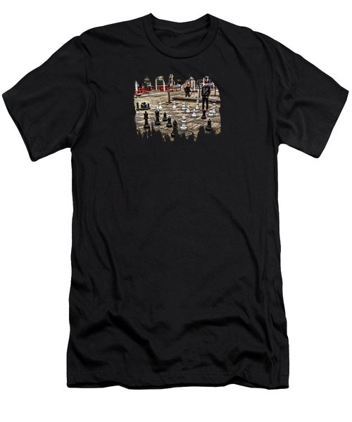 The Chess Match In Portland Men's T-Shirt (Athletic Fit)
