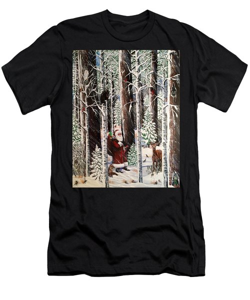 The Christmas Forest Visitor Men's T-Shirt (Athletic Fit)
