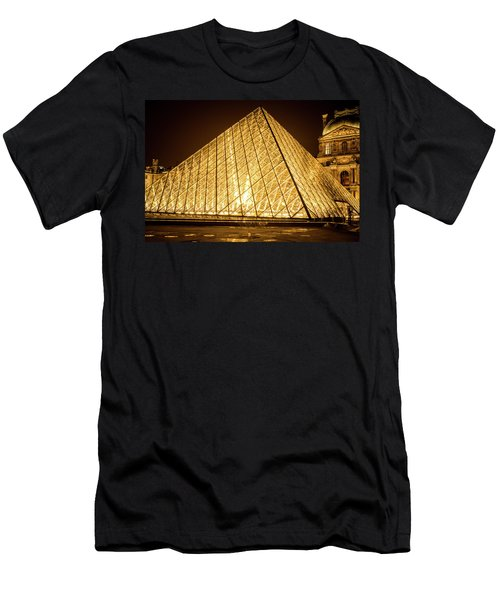 The City Of Paris At Night Men's T-Shirt (Athletic Fit)