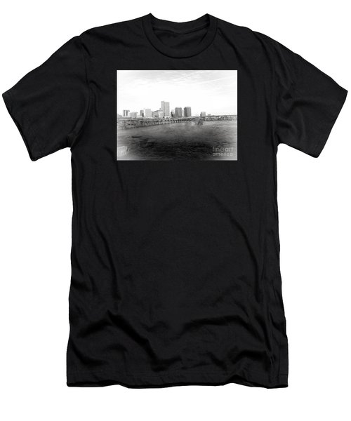 The City Of Richmond Black And White Men's T-Shirt (Athletic Fit)