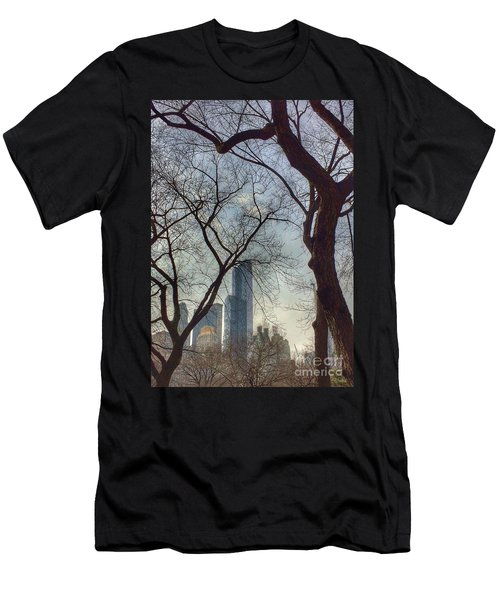 The City Through The Trees Men's T-Shirt (Athletic Fit)