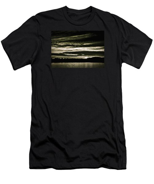 The Coast At Night Men's T-Shirt (Athletic Fit)
