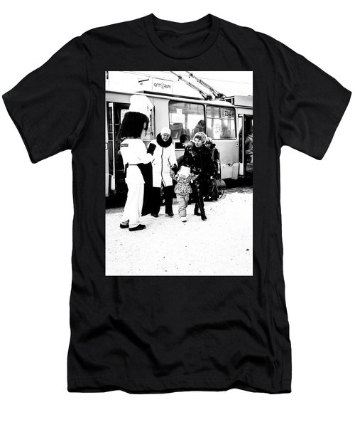 Men's T-Shirt (Athletic Fit) featuring the photograph The Collector Of Smiles by John Williams