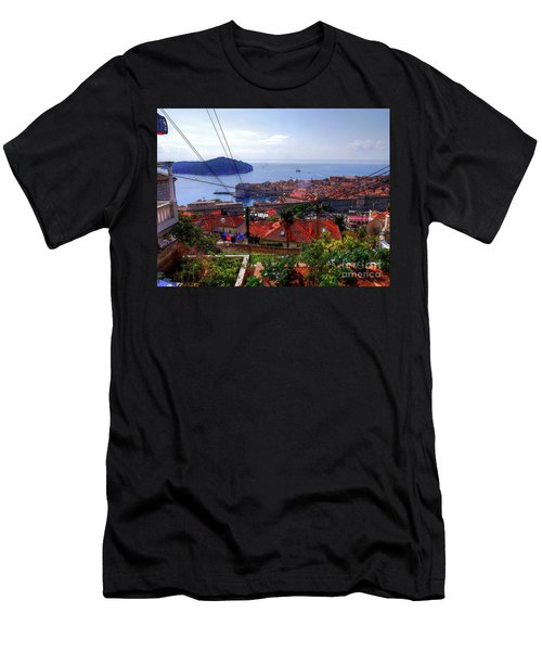 The Colourful City Of Dubrovnik Men's T-Shirt (Athletic Fit)