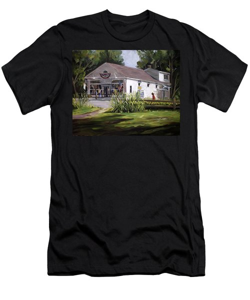 Men's T-Shirt (Slim Fit) featuring the painting The Country Store by Nancy Griswold