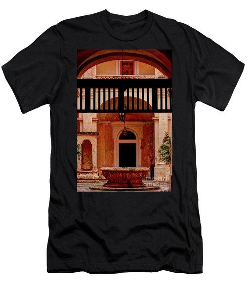 The Court Yard Malta Men's T-Shirt (Slim Fit) by Tom Prendergast
