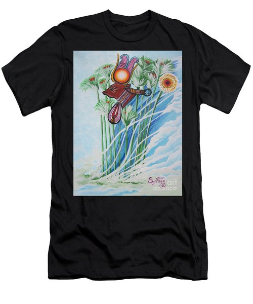 Blaa Kattproduksjoner           The Cow Goddess - Hathor Men's T-Shirt (Athletic Fit)