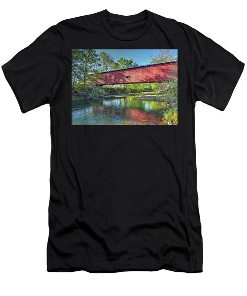 The Crooks Covered Bridge - Sideview Men's T-Shirt (Athletic Fit)