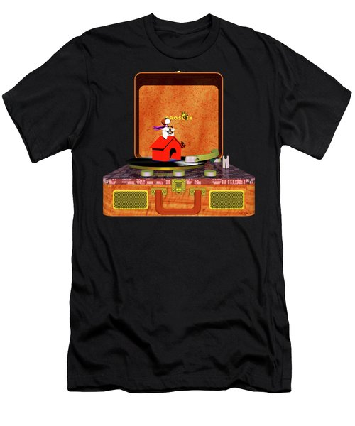 The Crosley Traveler, Featuring Snoopy Men's T-Shirt (Athletic Fit)