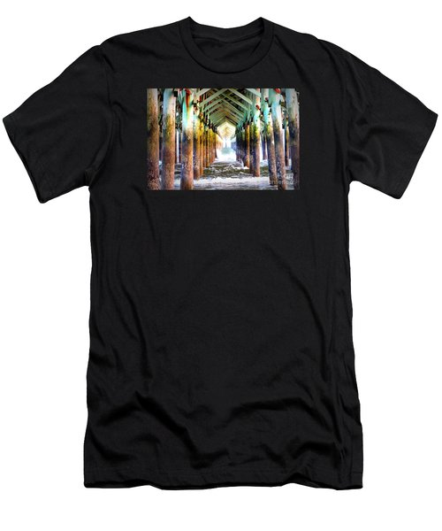 The Cross Before Us Men's T-Shirt (Slim Fit) by Shelia Kempf