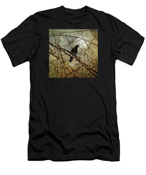 The Crow And The Moon Men's T-Shirt (Slim Fit) by Theresa Tahara